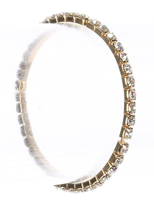 Bracelet / Rhinestone / Stretch / Metal Setting / 2 1/8 Inch Diameter / 1/8 Inch Tall / Nickel And Lead Compliant