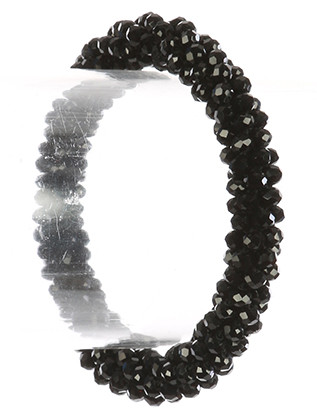 Bracelet / Roll On Bead / Stretch / Iridescent Micro Bead / 2 1/8 Inch Diameter / 1/3 Inch Tall / Nickel And Lead Compliant