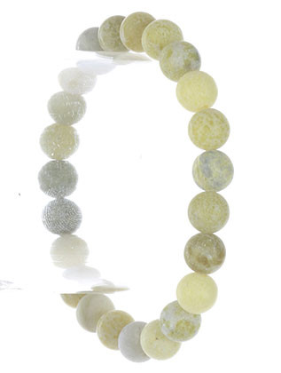 Bracelet / Natural Stone / Mala Prayer Bead / Stretch / 2 1/4 Inch Diameter / 1/3 Inch Tall / Nickel And Lead Compliant