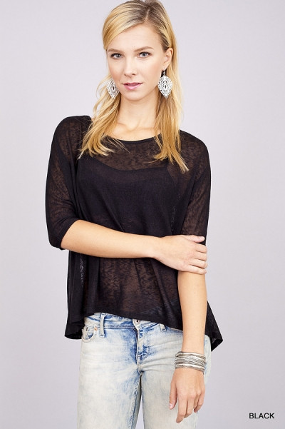 In The Midnight Hour Top - Black