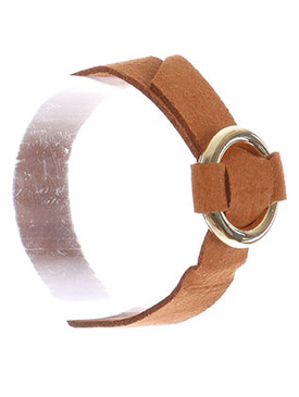 Bracelet / Metal Ring Buckle / Faux Suede Adjustable / 7 1/2 Inch Long / 1 Inch Tall / Nickel And Lead Compliant