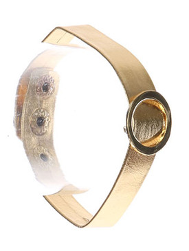 Bracelet / Metal Ring Buckle / Metallic Band / 7 Inch Long / 3/4 Inch Tall / Nickel And Lead Compliant