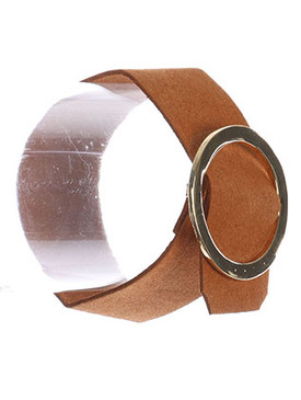 Bracelet / Metal Ring Buckle / Faux Suede Adjustable / 7 1/2 Inch Long / 1 1/2 Inch Tall / Nickel And Lead Compliant