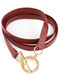 Bracelet / Faux Leather / Wraparound / Hammered Metal / Toggle Closure / 32 Inch Long / Nickel And Lead Compliant