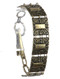 Bracelet / Aged Finish Metal / Chain / Textured / Spiral / Alligator Clip Closure / 7 1/2 Inch Long / 3/4 Inch Tall / Nickel And Lead Compliant