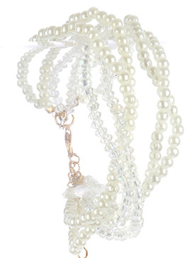 Bracelet / Multi Strand / Mini Pearl / Micro Bead / 7 1/2 Inch Long / 1 Inch Tall / Nickel And Lead Compliant