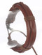 Bracelet / Faux Leather Band / Adjustable Cord / Criss Cross / Cord Wrapped / 2 1/8 Inch Diameter / 1/2 Inch Tall / Nickel And Lead Compliant