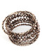 Bracelet / Metallic Bead / Coil Wire / Multi Strand / Adjustable / 2 1/4 Inch Diameter / 1 1/4 Inch Tall / Nickel And Lead Compliant