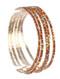 Bracelet / 5 Pc / Rhinestone Stretch / Metal Setting / 2 1/4 Inch Diameter / Nickel And Lead Compliant
