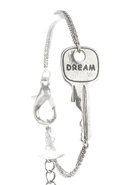 Bracelet / Aged Finish Metal / Message Key Chain / Dream / 7 Inch Long / 1/2 Inch Tall / Nickel And Lead Compliant