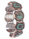 Bracelet / Aged Finish Metal / Horseshoe Stretch / Horsehead / Hammered Coin / Textured / Two Tone / 2 1/2 Inch Diameter / 7/8 Inch Tall / Nickel And Lead Compliant