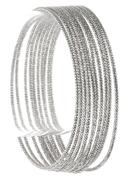 Bracelet / 10 Pc / Textured Wire Bangle / 2 1/2 Inch Diameter / Nickel And Lead Compliant