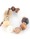 Bracelet / Chunky Natural Stone / Stretch / Pearl Finish / Wooden / Crystal Stone / Metallic Bead / Faux Suede / 2 1/3 Inch Diameter / 3/4 Inch Tall / Nickel And Lead Compliant