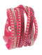 Bracelet / Multi Strand / Faux Suede Band Wraparound / Pave Crystal Stone / Metal Stud / Snap Button Closure / Adjustable / 14 Inch Long / 3/4 Tall / Nickel And Lead Compliant