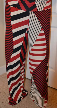 PS Plus Multi-Directional Striped Palazzo Pants - Red