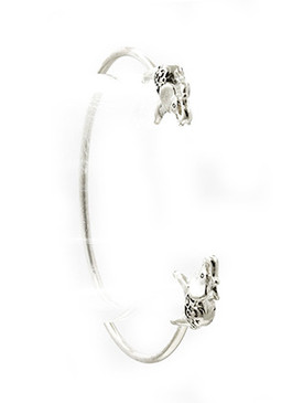 Bracelet / Metal Elephant / Wire Cuff / 2 1/3 Inch Diameter / 1/4 Inch Drop / Nickel And Lead Compliant