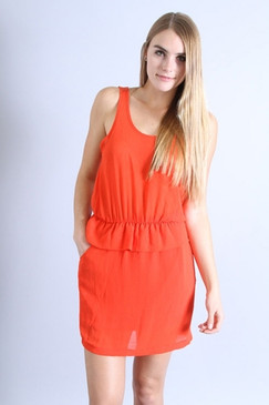 Orange Blitz Dress