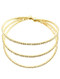 Bracelet / Pave Crystal Stone / Coil / 2 1/4 Inch Diameter / Nickel And Lead Compliant