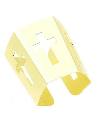 Bracelet / Pentagon / Cuff / Cross / Cutout Metal / Matte Finish / 2 1/4 Inch Diameter / Nickel And Lead Compliant