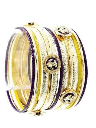 Bracelet / Fleur De Lis / Bangle / Metal / Epoxy / Textured Metal / 13 Pcs / 2 1/2 Inch Diameter / Nickel And Lead Compliant