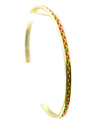 Bracelet / Bohemian / Knitted / Metal / Cuff / Bangle / 2 1/2 Inch Diameter / Nickel And Lead Compliant