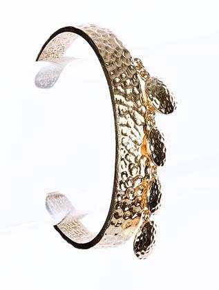 Bracelet / Circular / Cuff / Texture Metal / 2 1/2 Inch Diameter / Nickel And Lead Compliant