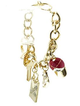 Bracelet / Chain / Charm / Splurge / Car Keys / Shoe / Cap / Ring / Sunglass / Fashion / Toggle / Metal / Crystal Stone Paved / Epoxy / 3 Inch Tall / Nickel And Lead Compliant