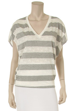 PS Plus Grey and White Striped Blouse