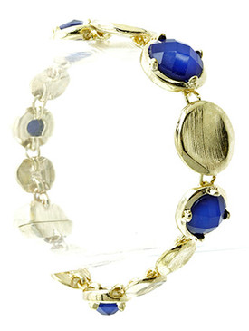 Bracelet / Clip / Magnetic Clip / Metal / Crystal Stone / 1/2 Inch Tall / Nickel And Lead Compliant