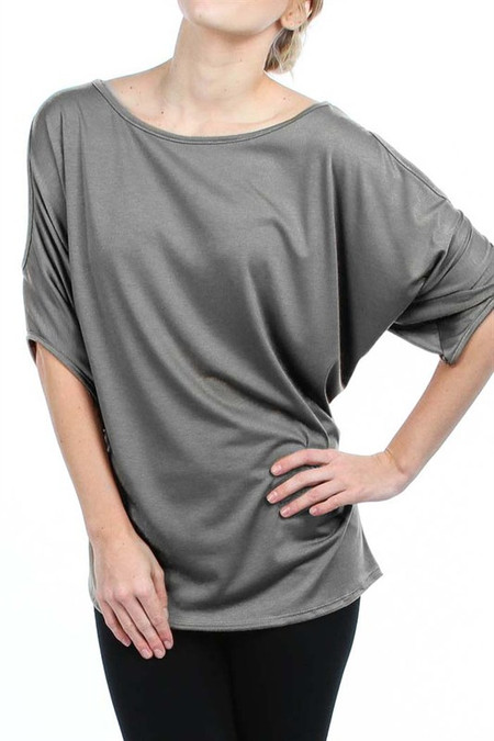 PS Plus Open Shoulder Wing Sleeve Top