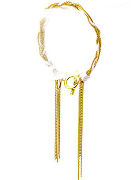 Bracelet / Toggle / Cord / Metal / Crystal Stone / 1/4 Inch Tall / Nickel And Lead Compliant