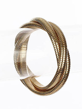 Bracelet / Bangle / Brass / Flat Chain / 2/3 Inch Tall / Nickel And Lead Compliant