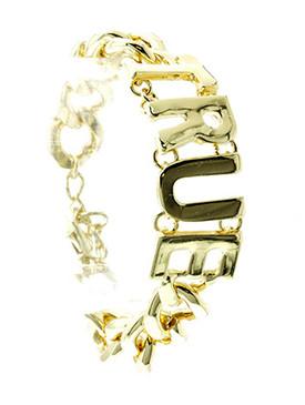 Bracelet / Link / Metalchain / Message / True / 2/3 Inch Tall / Nickel And Lead Compliant