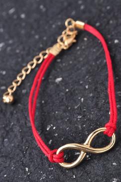 Red Infinity Charm Bracelet