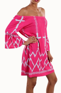 Round and Round Dress - Fuchsia