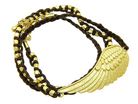 Bracelet / Necklace / Link / Cord / Metal / Matte / Wing / 2/3 Inch Tall / Nickel And Lead Compliant