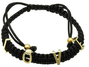 Bracelet / Adjustable / Cord / Metal / Message / Love / 1/3 Inch Tall / Nickel And Lead Compliant