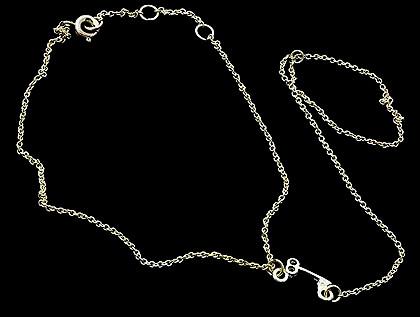 Bracelet / Ring / Metal / Link / Key / 5 Inch Drop / 8 Inch Long / Nickel And Lead Compliant
