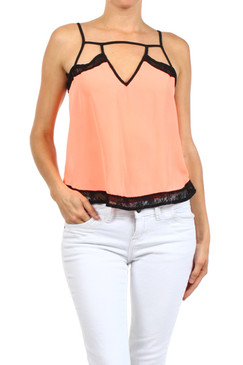 Solid V-Neck Trapeze Top