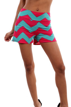 Sun Is Shinning Shorts - Mint/Fuschia