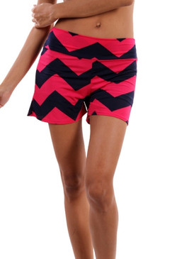 Sun Is Shinning Shorts - Navy/Fuschia