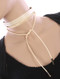 NECKLACE / FAUX LEATHER AND / WRAPAROUND CORD CHOKER / 2 PC / METALLIC BEAD / 68 INCH LONG / 3/4 INCH DROP / NICKEL AND LEAD COMPLIANT