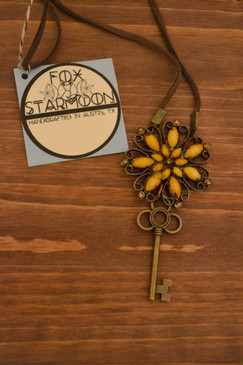 Viola Antiqued Necklace