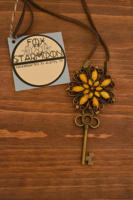 Viola Antiqued Necklace