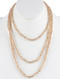 Necklace / Iridescent Glass Bead / Extra Long Wraparound / Knotted Yarn / 78 Inch Long / 1/4 Inch Drop / Nickel And Lead Compliant
