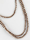 Necklace / Iridescent Glass Bead / Extra Long Wraparound / Knotted Yarn / 82 Inch Long / 1/4 Inch Drop / Nickel And Lead Compliant