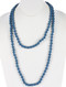Necklace / Wooden Bead / Extra Long Wraparound / Microbead / 60 Inch Long / 1/3 Inch Drop / Nickel And Lead Compliant