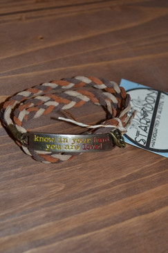You Are Loved Inspiration Suede Wrap Bracelet