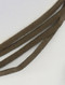 Necklace / Faux Suede / Wraparound Choker / Hollow Metal Bead / 68 Inch Long / 3/4 Inch Drop / Nickel And Lead Compliant