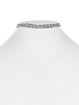 NECKLACE / DOUBLE LINK / CHAIN CHOKER / 12 INCH LONG / 1/3 INCH DROP / NICKEL AND LEAD COMPLIANT